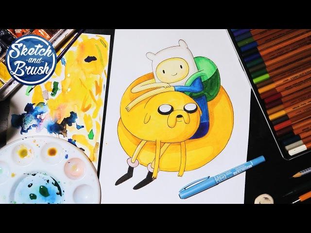 Как нарисовать Фина и Джейка из Время приключений / Adventure Time