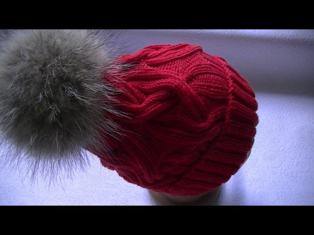 Вяжем шапку с косами с 24 петель