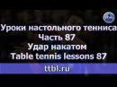 Уроки настольного тенниса Часть 87 Удар накатом