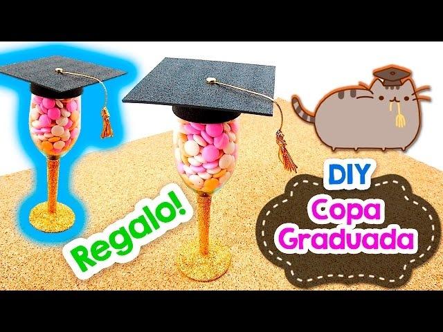 DIY | Copa Graduada ¡Fácil! | Regalo | Manualidad | PumitaNegraArt 🐾