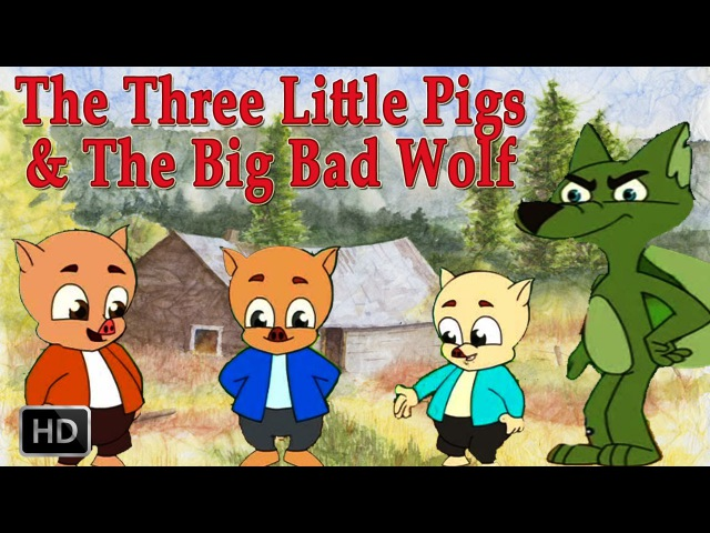 The Three Little Pigs and Big Bad Wolf | HD Animated Fairy Tales for Children | Full Story