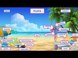 Learn Spanish Vocabulary for Free:  LA PLAYA    María Español