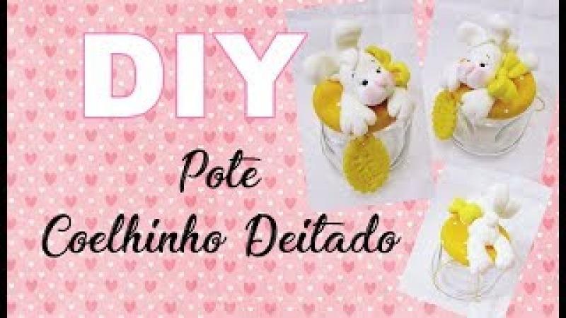 (DIY) Pote Coelhinho Deitado - Maratona de Potes 2