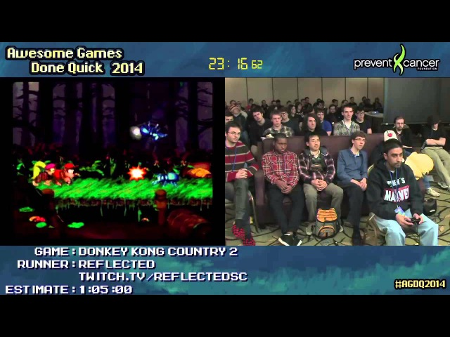 Donkey Kong Country 2 SPEED RUN (0:46:14) by Reflected