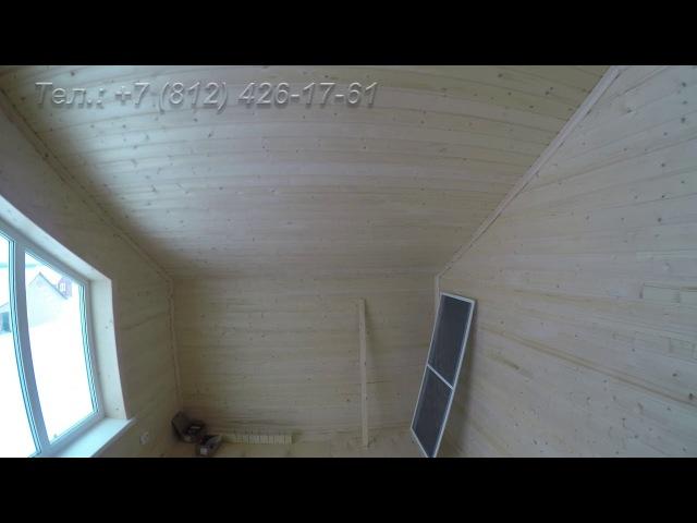 Как выглядит Евровагонка АБ внутри дома (размеры вагонки 12,5*96*6м)