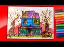 Рисуем Дом Монстр на Хэллоуин фломастерами / Рисунки на Хэллоуин от РыбаКит