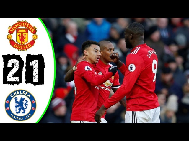 Manchester United vs Chelsea 2:1 - All Goals Highlights 25/02/2018 HD
