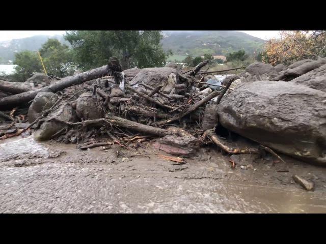 Southern California Flash Floods Foothill Single Lane Bridge