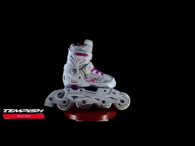 Tempish Neo X Duo Lady коньки ледовые-роликовые девичьи раздвижные
