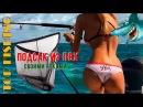 Самодельный складной подсачек для рыбалки. Подсак из ПВХ . TOP FISHING