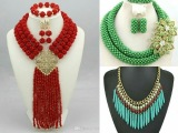 Latest Ethnic Beads &amp Floral Design Pendant Necklace Set for Women Available Online..