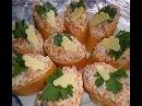 Закуска из селёдки и плавленного сыра /Ложная икра/.Как сделать красную икру. (Red caviar,herring)