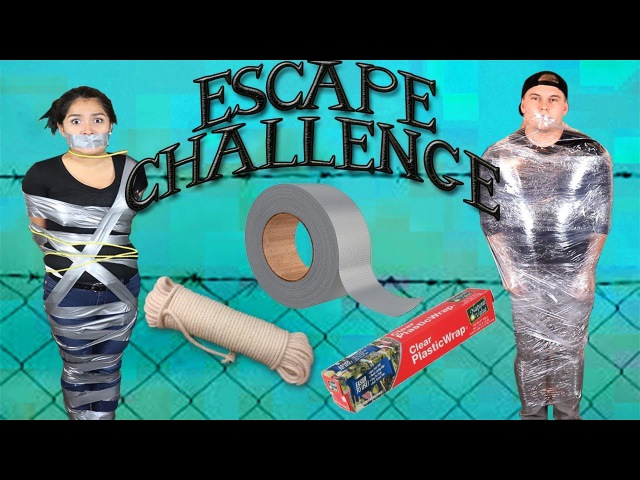 Impossible Duct tape ESCAPE CHALLENGE!!