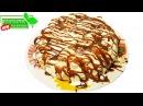 Бисквитный торт с бананами шоколадом Сметанный крем Быстрые нямки Мамочкин канал