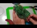 Мастер класс Мимоза из бисера Часть 2. Листья. Бисероплетение Beaded flowers tutorial
