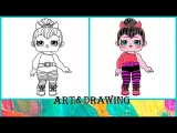 КАК НАРИСОВАТЬ КУКОЛКУ ЛОЛ ПЕРЧИНКА!!!  Surprise Baby Doll LOL. Coloring Pages for Kids
