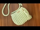 Como Fazer Uma Bolsa com Fio de Malha - Tutorial de Crochê - Modelo Clutch - T Shirt Yarn Bag