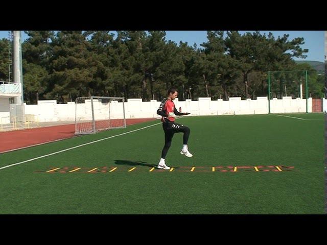 Football coaching video soccer drill ledder coordination Brazil 1