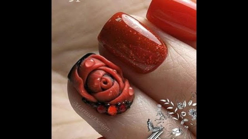 Идеи за маникюр с Гел Пластелин - 3D ефект ✔Video Tutorials 3D nail art with GEL PLASTICINE