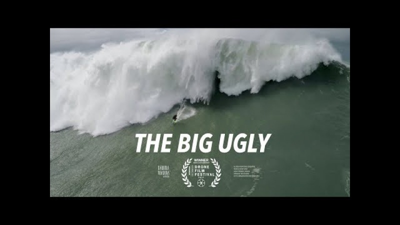 The Big Ugly - Dramatic Rescue of a Fallen Big Wave Surfer - Drone - Nazaré, Portugal