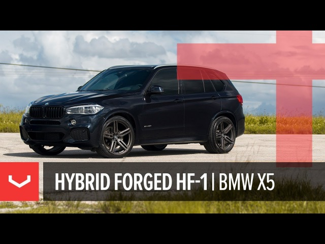 Vossen Hybrid Forged HF 1 Wheel BMW X5 Tinted Matte Gunmetal