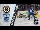 Boston Bruins vs Vancouver Canucks – Feb. 17, 2018 | Game Highlights | NHL 2017/18. Обзор