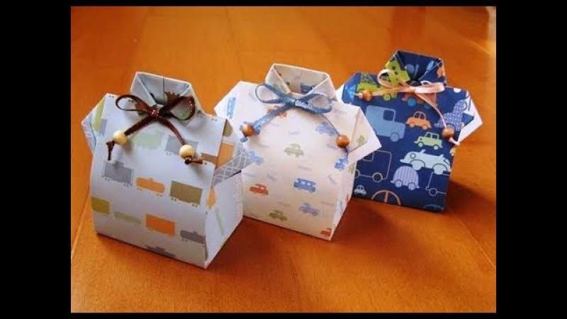 Cómo hacer caja en forma de camisa para el DIA DEL PADRE Father´s Day craft - Ronycreativa