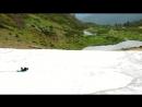 Спуск на ижевском каремате по леднику Свидовецкого хребта на Украине