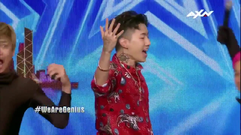 Jay Park joining Genius on stage on Asias Got Talent