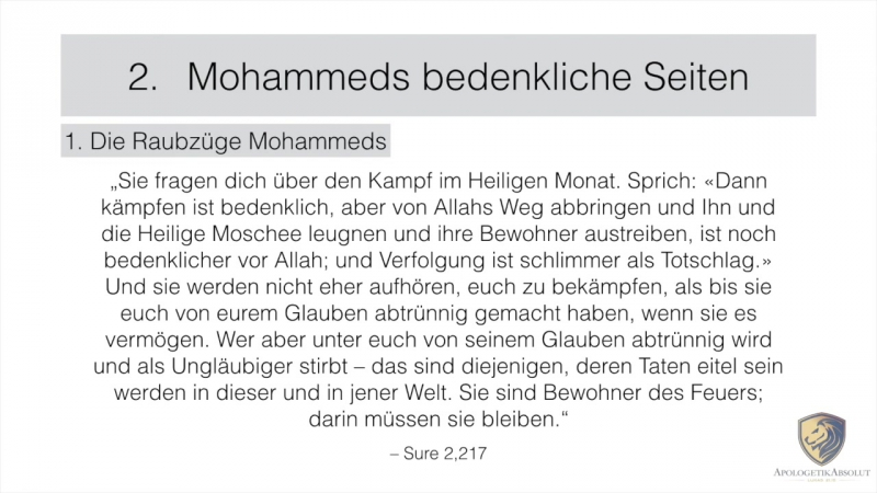 Über Mohammed-Mordaufträge , Massentötungen usw ( aus Hadithen)