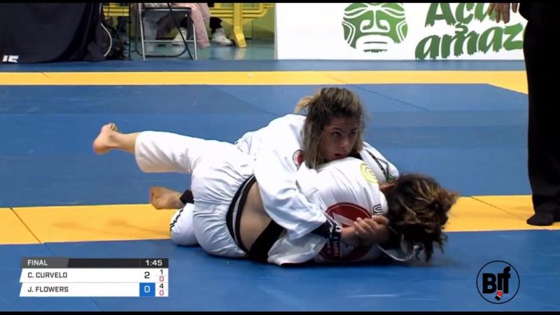 Jessica Flowers vs Carina Curvelo IBJJFEURO18