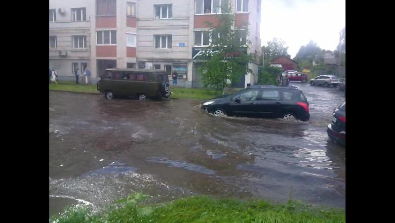 Последствия ливня во Владимире. 21.07.2017