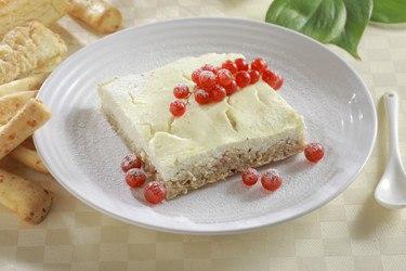 Творожный пирог с основой