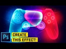 ADVANCED Glowing PS4 Controller Photoshop CC 2018