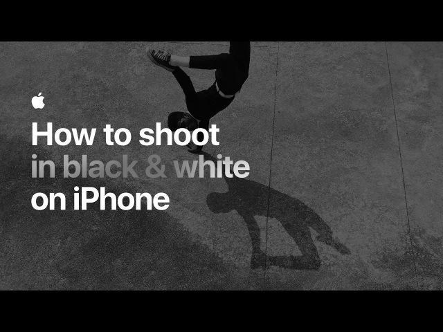 How to shoot in black white on iPhone — Apple