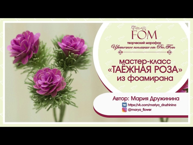 Дружинина Мария_МК Таежная роза