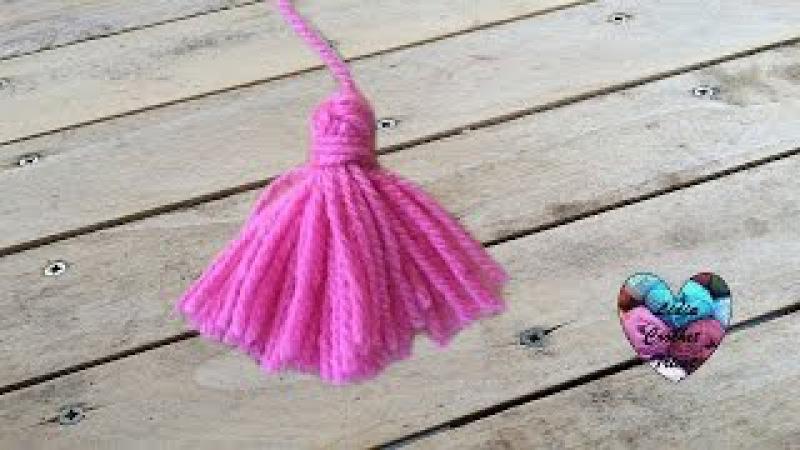 Pompons à franges tricot crochet Borlas en lana