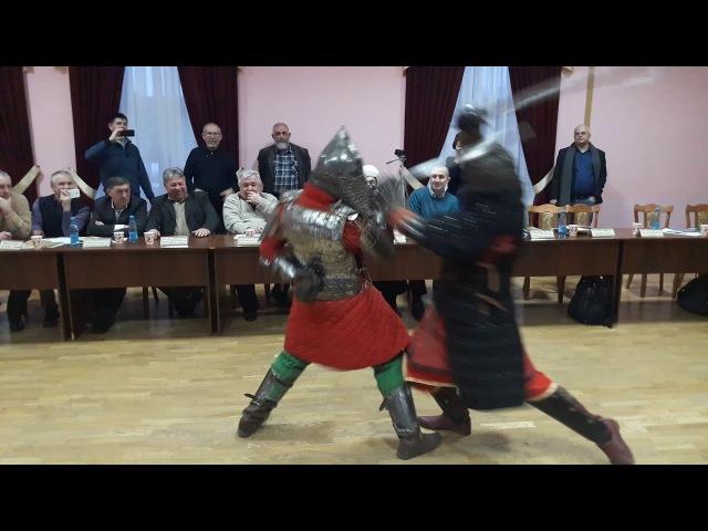 Сражение средневековых русских и татарских войнов