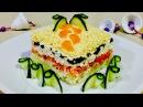 Салат из печени трески необычайно вкусный Салат на праздник Рецепты салатов