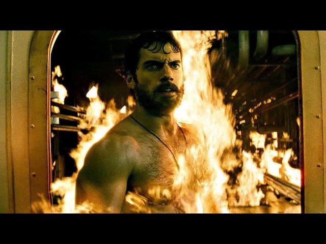 Супермен спасает людей на нефтяной вышке. Человек из стали. 2013.