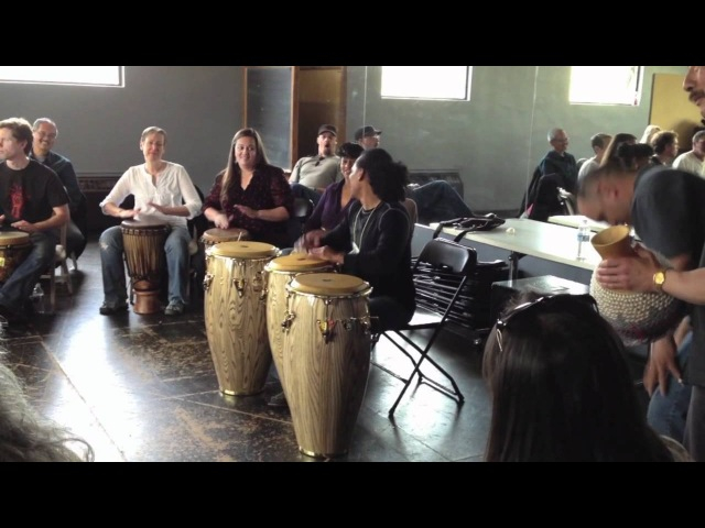 Paoli Mejias Congas and Djembe Seattle World Rhythm Festival