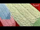 Bufanda a Crochet en punto 3D argollas entrecruzadas tejidos tallermanualperu
