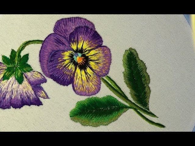 Embroidery Long Short stitch  Вышивка гладью