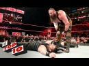 Top 10 Raw moments WWE Top 10 July 17 2017