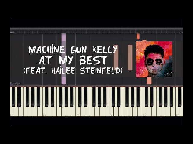 Machine Gun Kelly - At My Best (feat. Hailee Steinfeld) - Piano Tutorial by Amadeus (Synthesia)