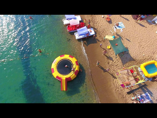 пляж Орджоникидзе Крым аэросъемка DJI Черное Море вид сверху пляжи 2017 лето 4K_SEASUN MW_I