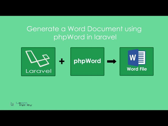 Generate a Word Document using phpWord in laravel - Learn Infinity