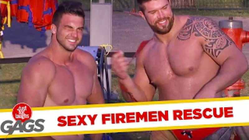 Firefighters Strip Tease and Rescue Victims - Just For Laughs Gags