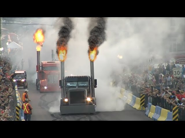 Amazing Semi Truck Drag Racing 2018