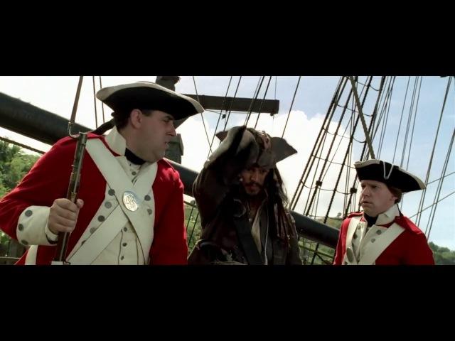 Пираты Карибского моря.Джек спасает жизнь Элизабэт Суонн